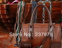 2013 Hot sale classical genuine leather handbag, Lady's bandbag, classical knight bag;