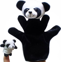 Free shipping 2pcs big and samll panda Baby Toys doll animal Finger puppets Parent-child toy high bay lover