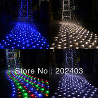 2Mx2M 192 LED Indoor/Outdoor Net String Curtain Light  For Christmas Wedding Party Festival Decoration 220V-240V