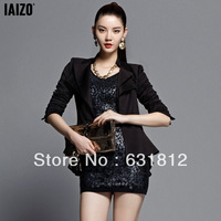 free shipping women's jackets 2013 autumn and winter slim long jacket single-button Piece suit winter womens jacket