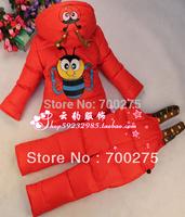 2014 New Baby Girls Boys Winter Down Sets Jacket +Pants Kids Children Clothing Suits Size 100cm-130cm 11Colors