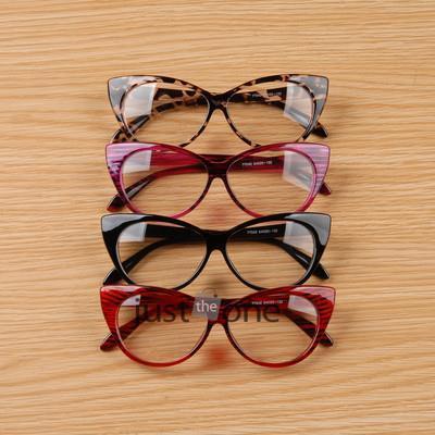 Cool Cute Fashion Women Lady Girls Cat-eye Shape Spectacle Plain Glasses Plastic Leopard Black Color(China (Mainland))