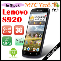 "Free gift Original Lenovo S920 5.3"" Capacitive Touch Android 4.2 Quad Core MTK6589 1.2GHz 1GB RAM 4GB ROM GPS Dual Camera"