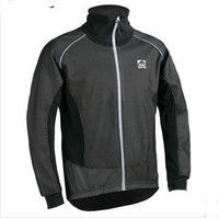 2013 black winter thermal fleece windproof/waterproof long sleeve Cycling Jersey/Cycling Clothing/Wear reflective cycling jacket