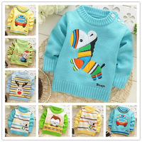 Autumn and winter Baby Cute cartoon shoulder button sweater pullovers,kids /Child sweater,many styles to choose,V514