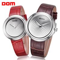 fashion women dress watches Dom leather strap watches brand luxury watches men quartz relogio couple watch male clock