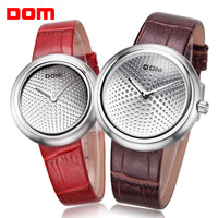 fashion women dress watches Dom leather strap watches brand luxury watches men quartz wristwatches couple watch male clock