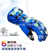 Free shiipping 2013 New Fashion Unisex Boys And Girls Children Winter Gloves Kids Ski Gloves Waterproof Glove,1pic/lot