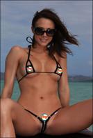 2014 Hot Sale VS SexyMini Micro Hollow Out Zipper Bikini Swimwear Set Cotton Bra Underwear Panties G string Thong Panty Briefs