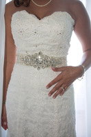 S002 VannaBridal - Weding dress gown  belt with manual beading A level  Rhinestone and diamond free shipping