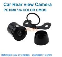 Free shipping by DHL/Fedex Wholesale 4pcs/lot car rear view camera 16.5 mm PC1030 1/4 COLOR CMOS 420TV lines PAL/NTSC