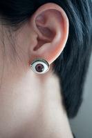European and American retro blue eyes earrings personalized earrings evil demon interesting