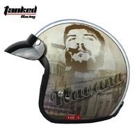 Free shipping!Tanked Racing half helmet,electric bicycle Motorcycle helmets,Che Guevara havana capacete,ECE safe Approved