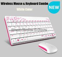 New Product High Quality 2.4GHz Stylish Wireless Mini Keyboard And Mouse Combo/ Set, Ergonomic, DPI 1000, Black/Blue/Green/White