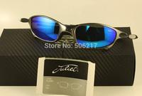 Unisex brand name mens Juliet Sunglasses men X metal frame Plasma Ice Iridium Blue Polarized Sunglasses 04-114A new in case