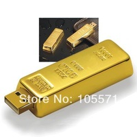 Fashionable Classical style Gold bar pen drive 64gb 32gb 16gb usb 2.0 pen drives