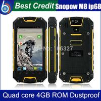 In stock Snopow M8 IP68 MTK6589 quad core PTT Walkietalkie Dustproof smartphone 4.5 inch 1gb ram 4gb rom gps Waterproof/Kate