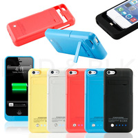 New Portable Backup Battery Extend Charge Power Bank Case Cover for Apple iPhone 5C 5 5s 2200mAh IOS 7 Free Shipping