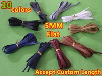 "New Arrival~Flat Wax Cotton Laces~7colors available~5mm wide~30"" long ( Accept Custom color & Custom Length ), DHL FREE SHIPPING"