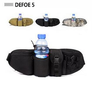 Free shipping water bottle multi pouches nylon ergonomics design waist bag,cheap belt bagfanny pack items,military US army gear(China (Mainland))
