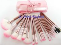 New fashion makeup brushes 22pcs/set  professional make up brushes Good Quality Pink makeup brush set bag
