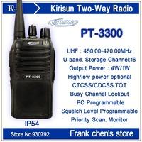 Walkie Talkie KIRISUN 5Watt  Professional UHF Two-way Radio PT3300 Free Shipping