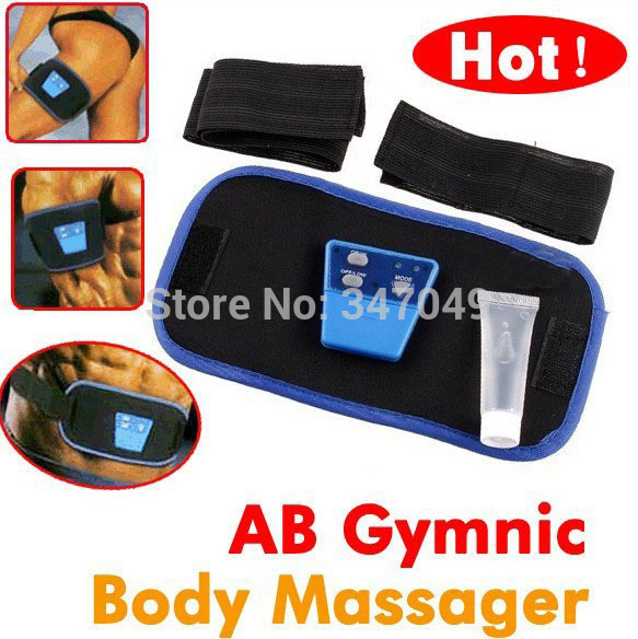 AB Gymnic Massager Body Electronic Muscle Arm Leg Waist Massage Belt OPP Packing Health Care Product China Post Free Shipping(China (Mainland))