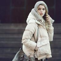 Winter women's 2014 fashion with a hood personality zipper yarn collar berber fleece design women's down thicken coat