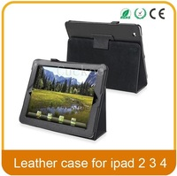 Hot Sale Magnetic Smart Cover For iPad 2 3 4 iPad PU Leather Stand Folding Folio Case With Sleep Wakeup 10 Colors