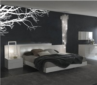 254x110cm [Black/White Winter tree] WordArt Wall Stickers Vinyl Wall Decal Sticker Family Removable Wall Stickers