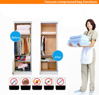 FREE SHIPPING ,5pcs/lot Vacuum bag set , Vacuum Storage Bag/Vacuum space saving compressed bag/ 50*60 /60x80/ 68x98/80*100