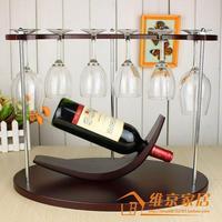 Fashion wine rack wooden jump ring theroom imitation wood wine rack wool cup holder