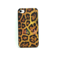 2014 New Arrival Luxury Leopard Prints hard case Hard Skin Cover Case Protector Shell for Apple iphone 4 4S