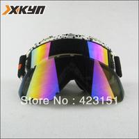 The High quality Fashionalbe UV-protection Anti-fog Ski Goggles Dual Lens ,Free Shipping