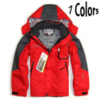 Free Shipping Waterproof Outdoor Jacket for Children in Winter, Breathable Hiking Jacket + Lining Jacket For Boys and Girls