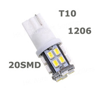 NEW 20 SMD led T10 1206/3020 20smd 20led W5W LED 501 194 168 Car Side Light Wedge Bulb Lamp White DC 12V,new