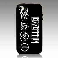 For iphone 4 4s iphone 5 5s iphone 5C case  LED ZEPPELIN ZC0047 hard TPU mix PC phone cover Wholesale Retail