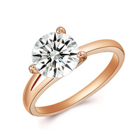 Newest fashion rose gold plated high quality noble cubic zircon Engagement Rings for Women Wedding Valentine's Jewelry gift