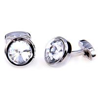 HOT !  transparent  color rainstone gem men's cufflinks high quality ZF05 Free shipping