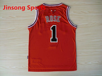 Free Shipping,#1 Rose Basketball Jersey,Top quality Sports Jersey,Embroidery logos,Size 44-56,Can Mix Order