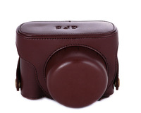 Camera Case Pouch Bag for Panasonic Lumix DMC-GF5 14mm X 14-42mm chocolate color