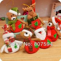 Hot Selling!!! 6pcs/lot The deer snowman Pendant for Chrismas tree,christmas gift,santa claus,Christmas Decoration Supplies s16