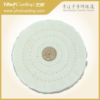 5 inch 50 ply  Cotton polishing wheel for jewelry surface treatment and buffing, white color