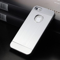 New Ultra Thin Plastic + Aluminum Metal Drawing Case For iPhone 5 5S Hard Cases Cover+Retail Package