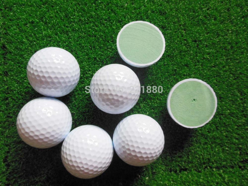 Free Shipping High Quality 50pcs 2 Layer Driving Range Golf Ball Two Piece Golf Practise Balls(China (Mainland))