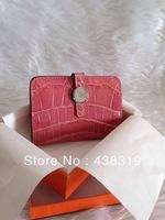 Crocodile PiLiang surface CK95 red BEARN WALLET handbag purse+Free shipping
