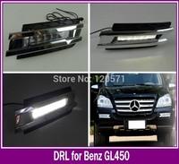 Excellent quality DRL for Mercedes-Benz GL320 GL450 X164 G420 GL550 2006-2009 led daytime running light lamp fog lamp cover