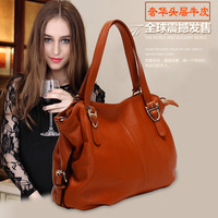 Hot Fashion Genuine leather handbag messenger bag victoria first layer of cowhide women's bags tote