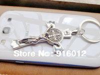 Jesus cross stainless steel key chain keychain crosses keychains