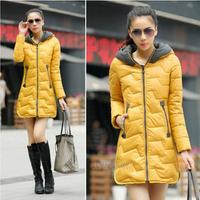 Free Shipping 2015 New Arrival Kafe Women's Down Jacket Winter Coat Warm Padded Parka Hoody Overcoat Outer wear 88